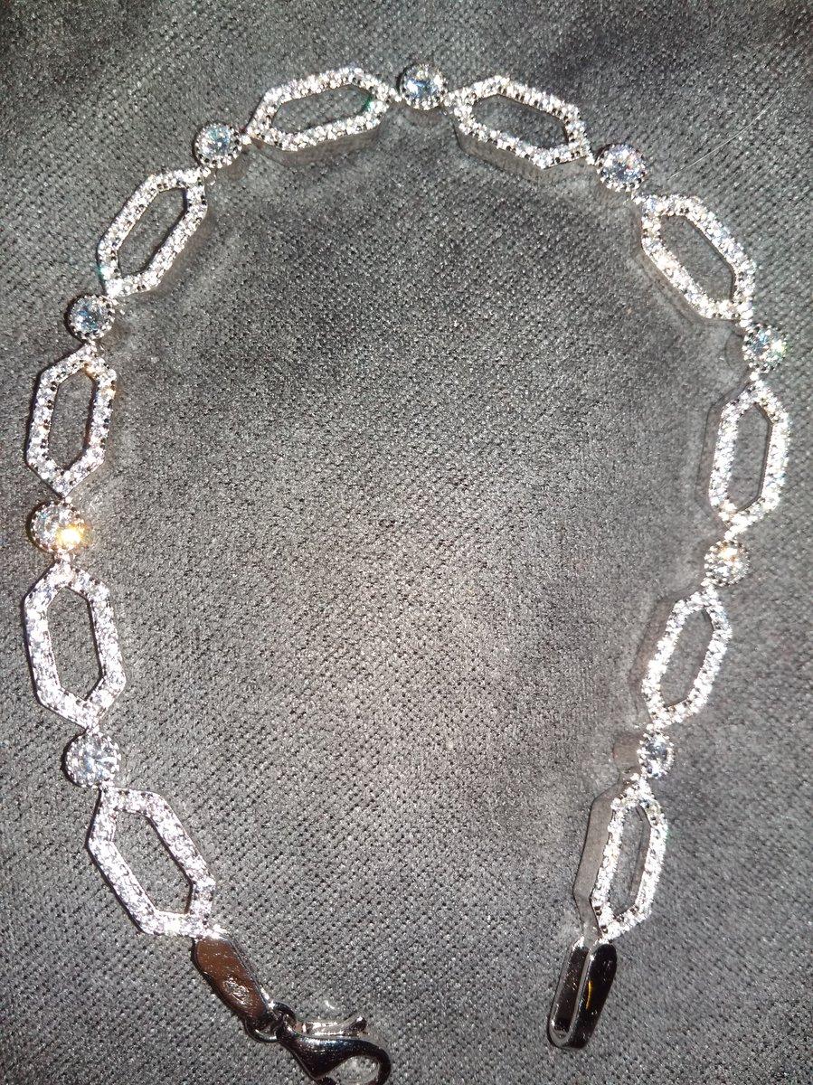 Браслет из серебра 17,5 размер