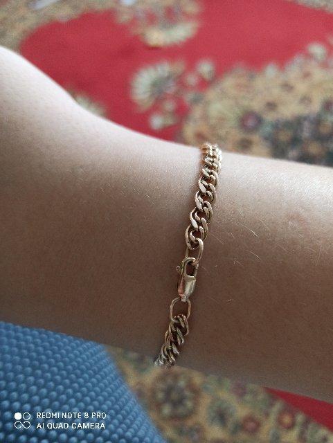 Давно мечтала о золотом браслете!