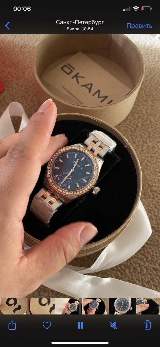 Красивые часы 😻немного увесистые тяжелые , но по качеству за эту цену👍🏻