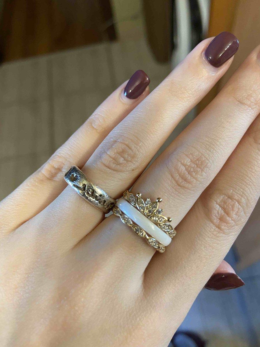 Кольцо с керамикой и фианитами