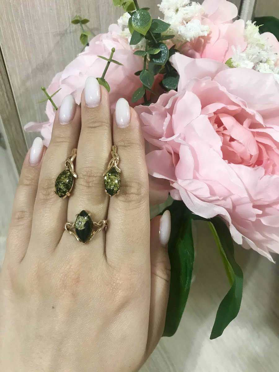 Серьги +кольцо