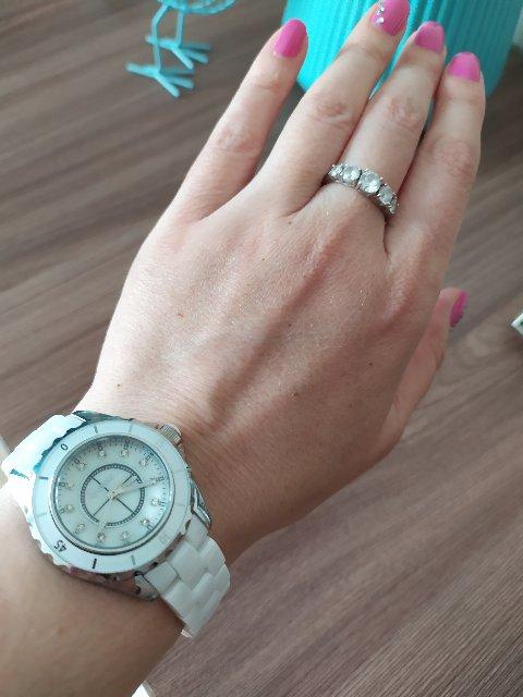 Часы женские керамические с камнями