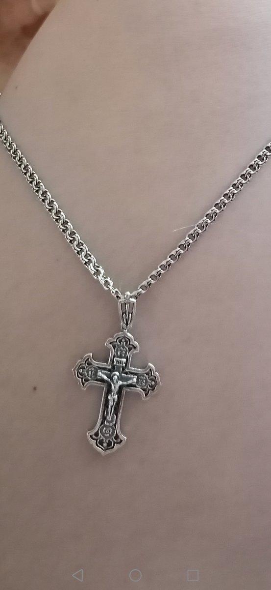 Заказывала крестик и к нему цепочку.