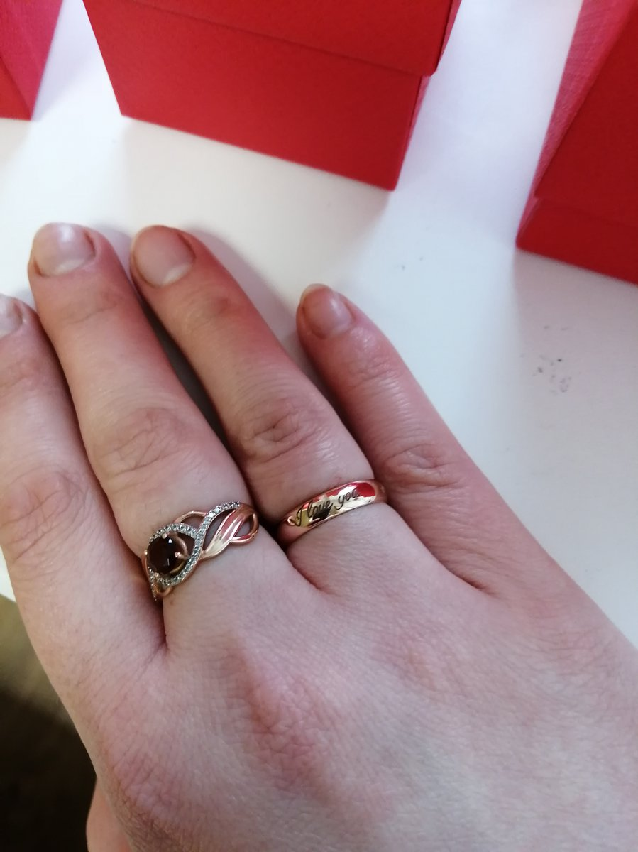 Обручальное кольцо с гравировкой