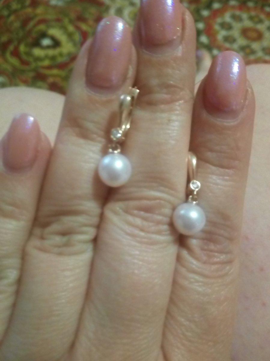 Серьги жемчуг с бриллиантами