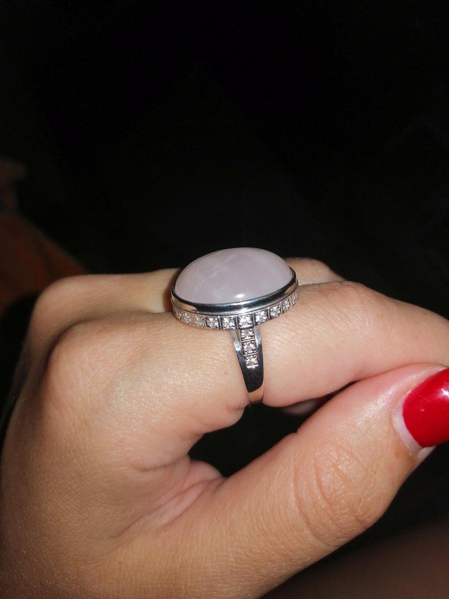 Кольцо с розовым кварцем, моя любовь