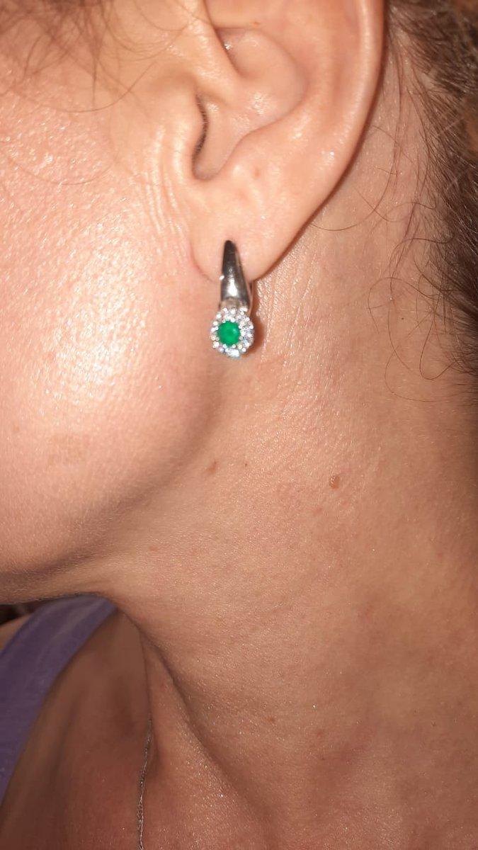 Наимилейшие сережки с зеленым агатом