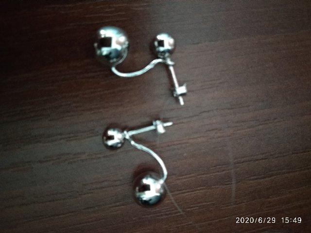 Серьги серебро- шарики.