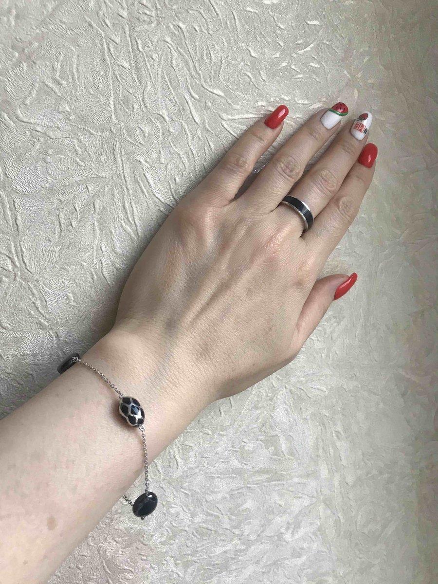 Серебро с черной керамикой