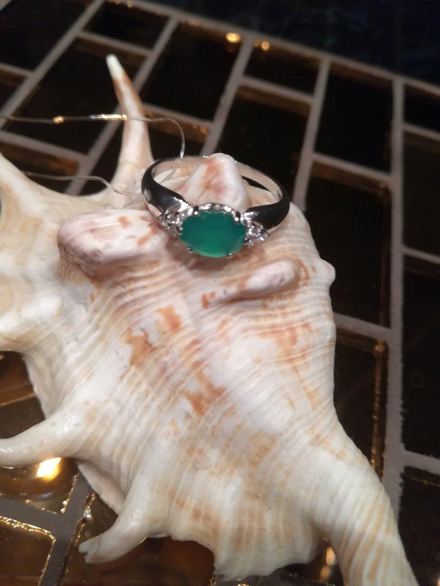 Прелестное кольцо с агатом.