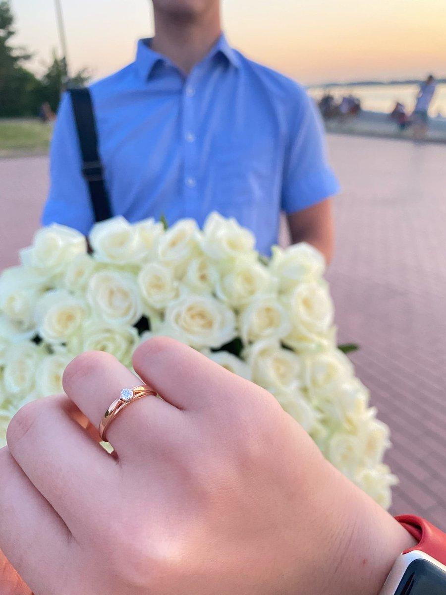 Шикарное помолвочное кольцо