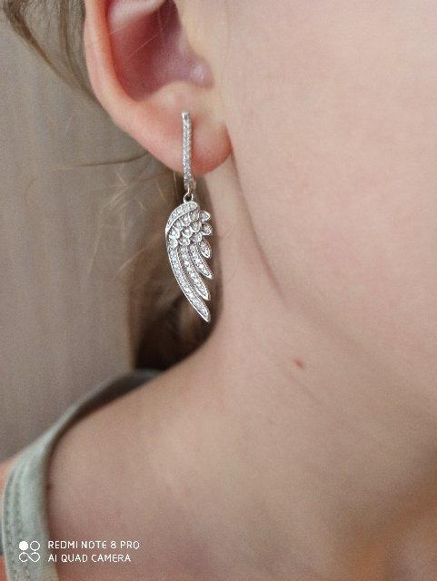 Серьги крылышки