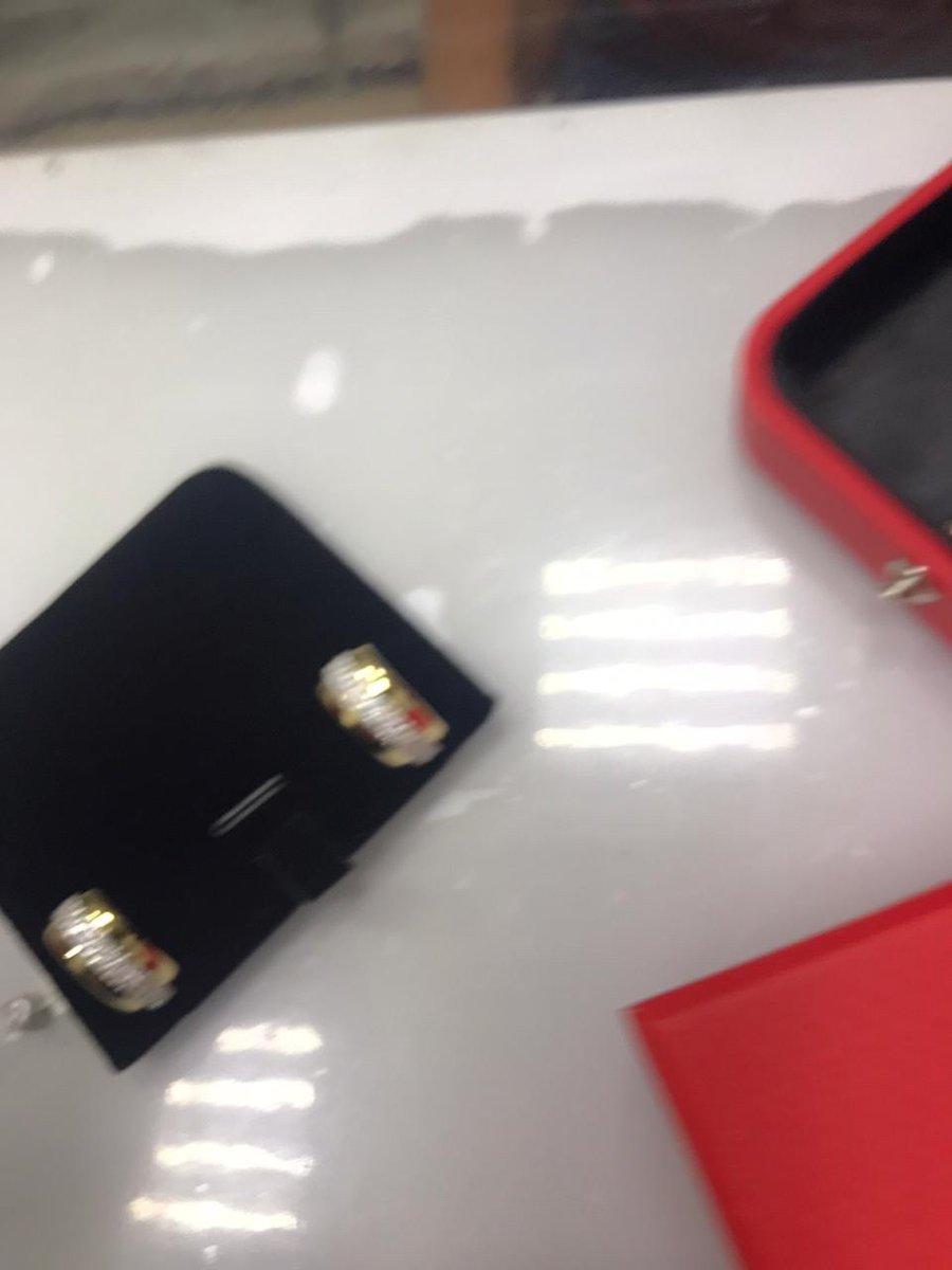 Золотые сережки с фианитами