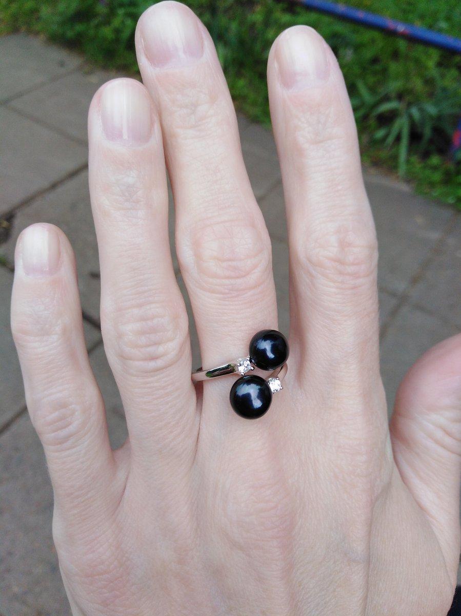 Серебряное кольцо с жемчугом 😍
