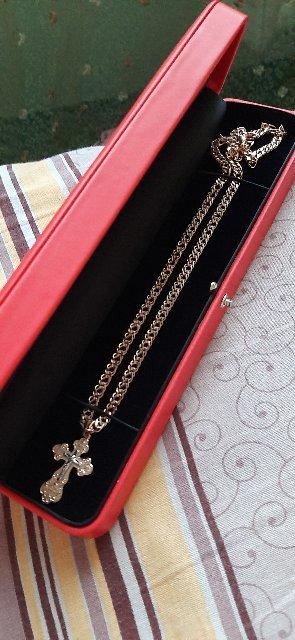 Золотая цепочка в подарок  супругу! Очень очень очень классная!!!🥰🥰🥰🥰🥰