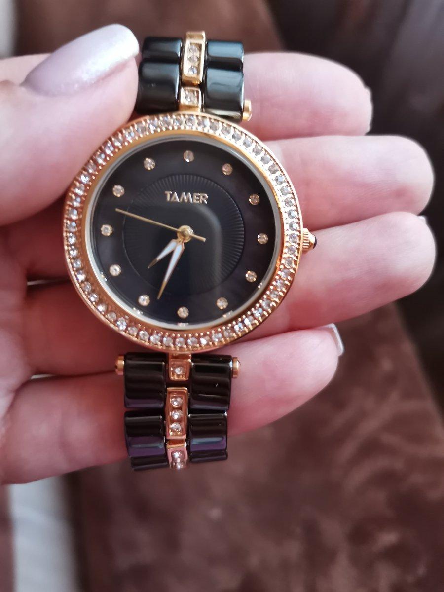 Часы чёрные керамика
