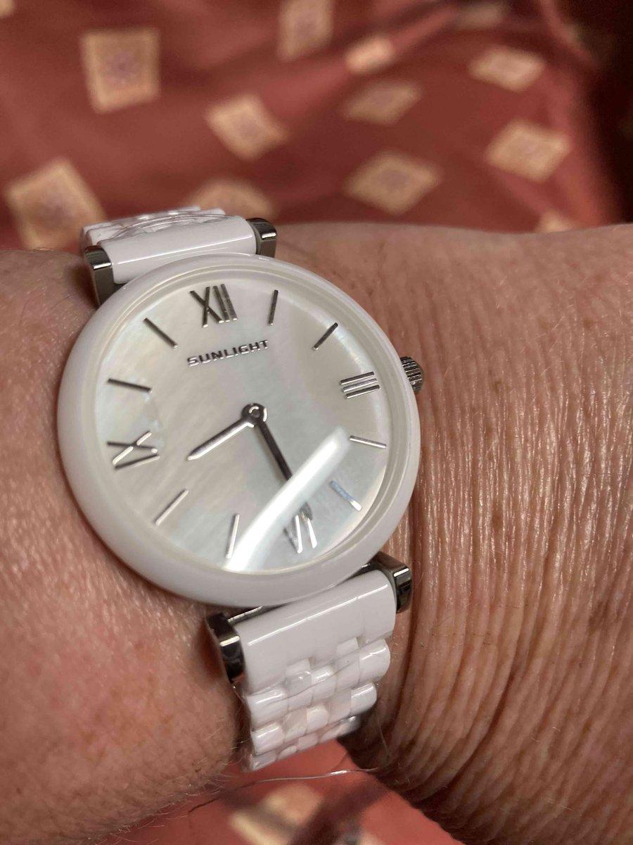 Часы керамические с керамическим браслетом