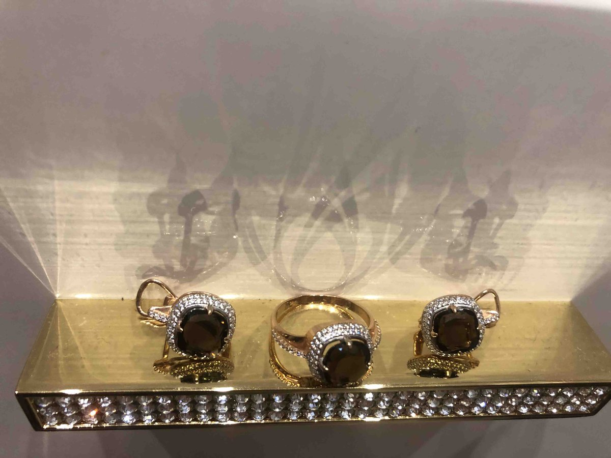 Отличное кольцо с раухтопазом! от золота не отличить!
