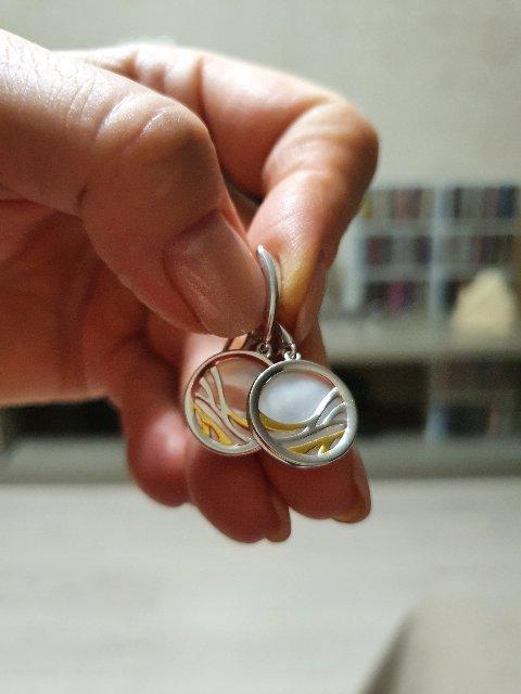 Очень красивые серьги, не снимаю, подскажите артикул кольца из этой серии.