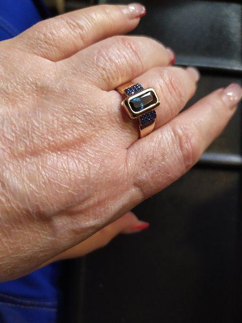 Кольцо с наносапфиром