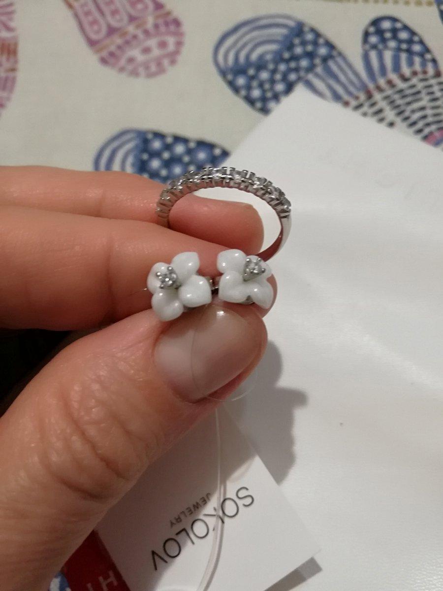 Кольцо серебряное, с фианитами