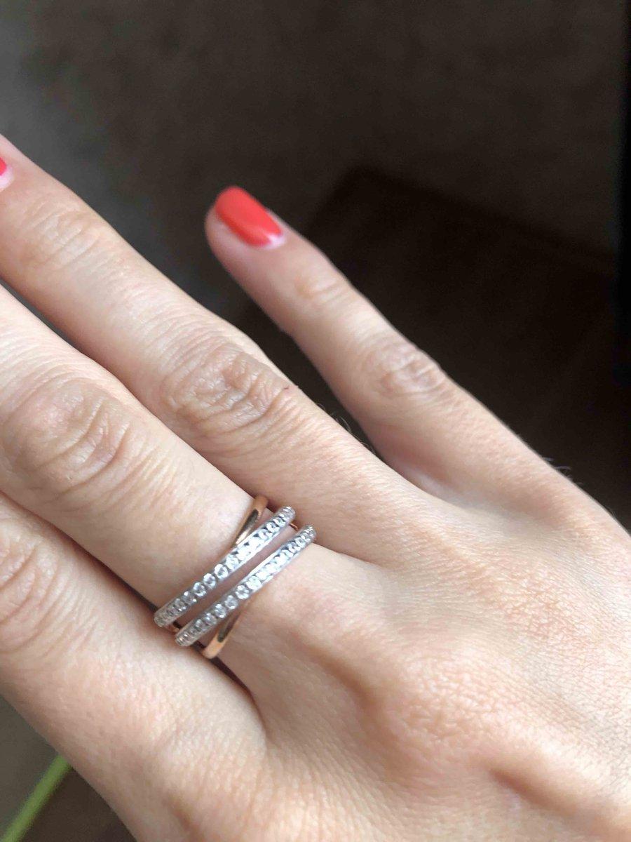 Кольцо серебряннное с покрытием и фианитами