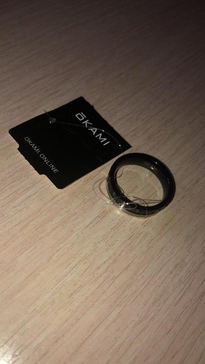 Стальное мужское кольцо