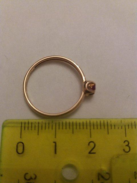 Нежное кольцо с рубином