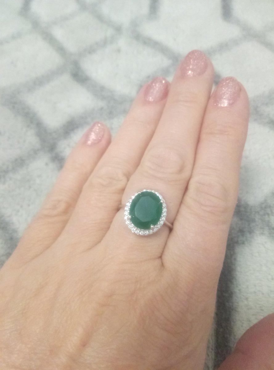 Прекрасное кольцо с натуральным агатом