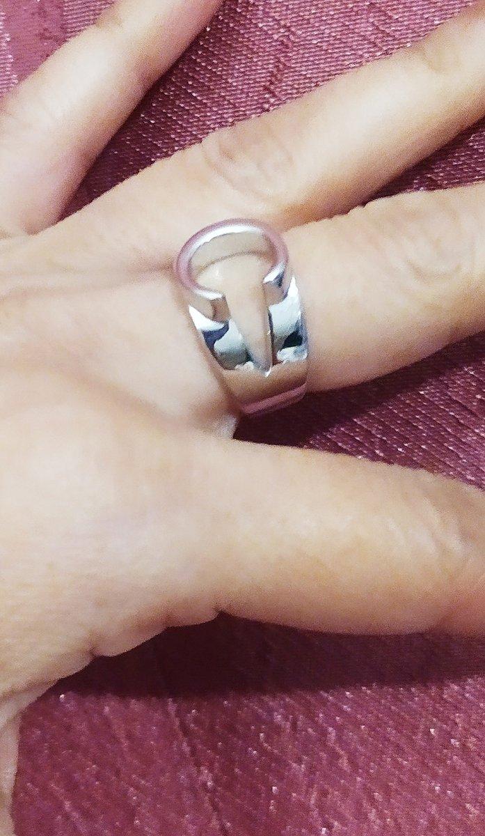 Кольцо в виде буквы- с