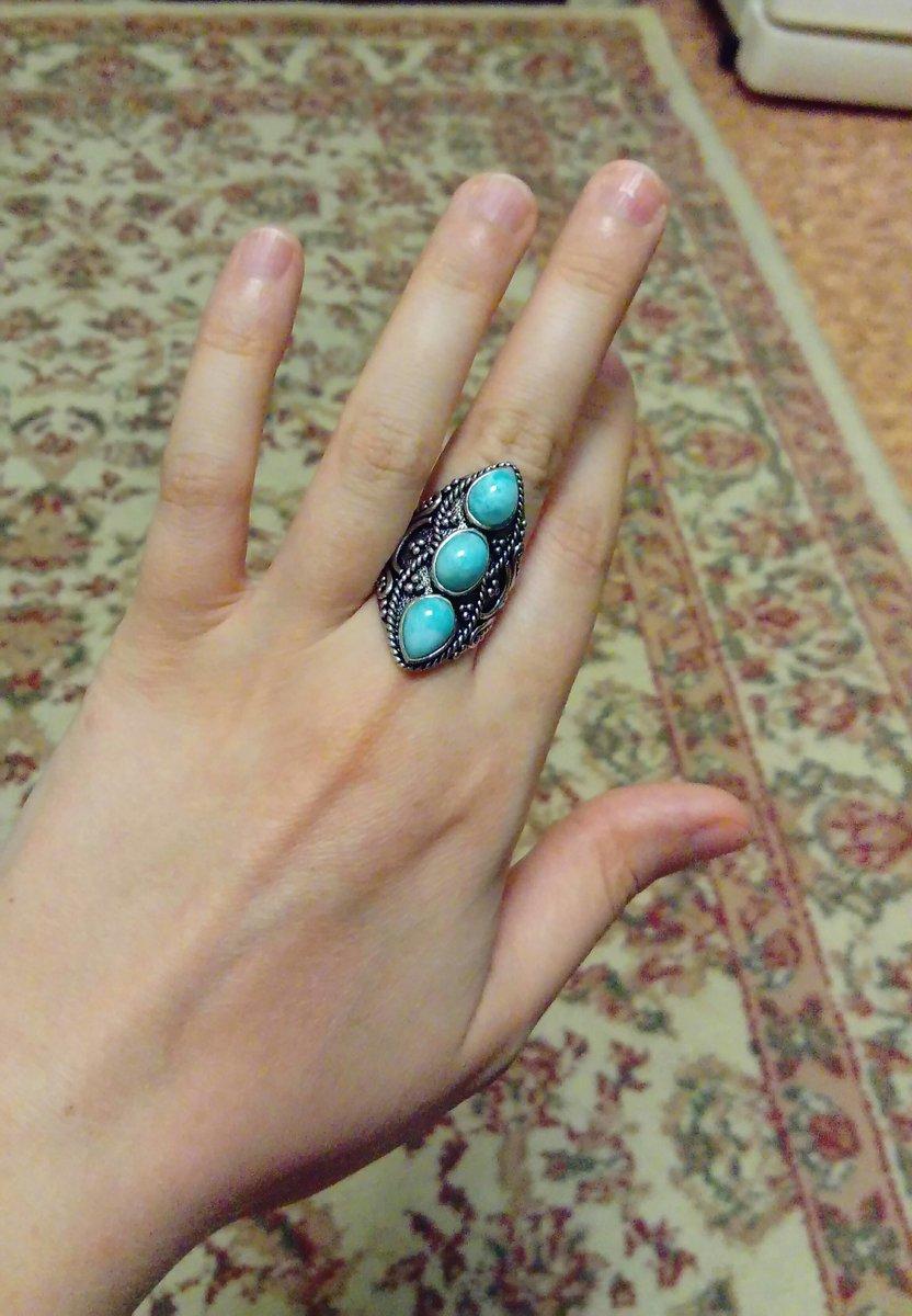 Обворожительное кольцо с ларимарами