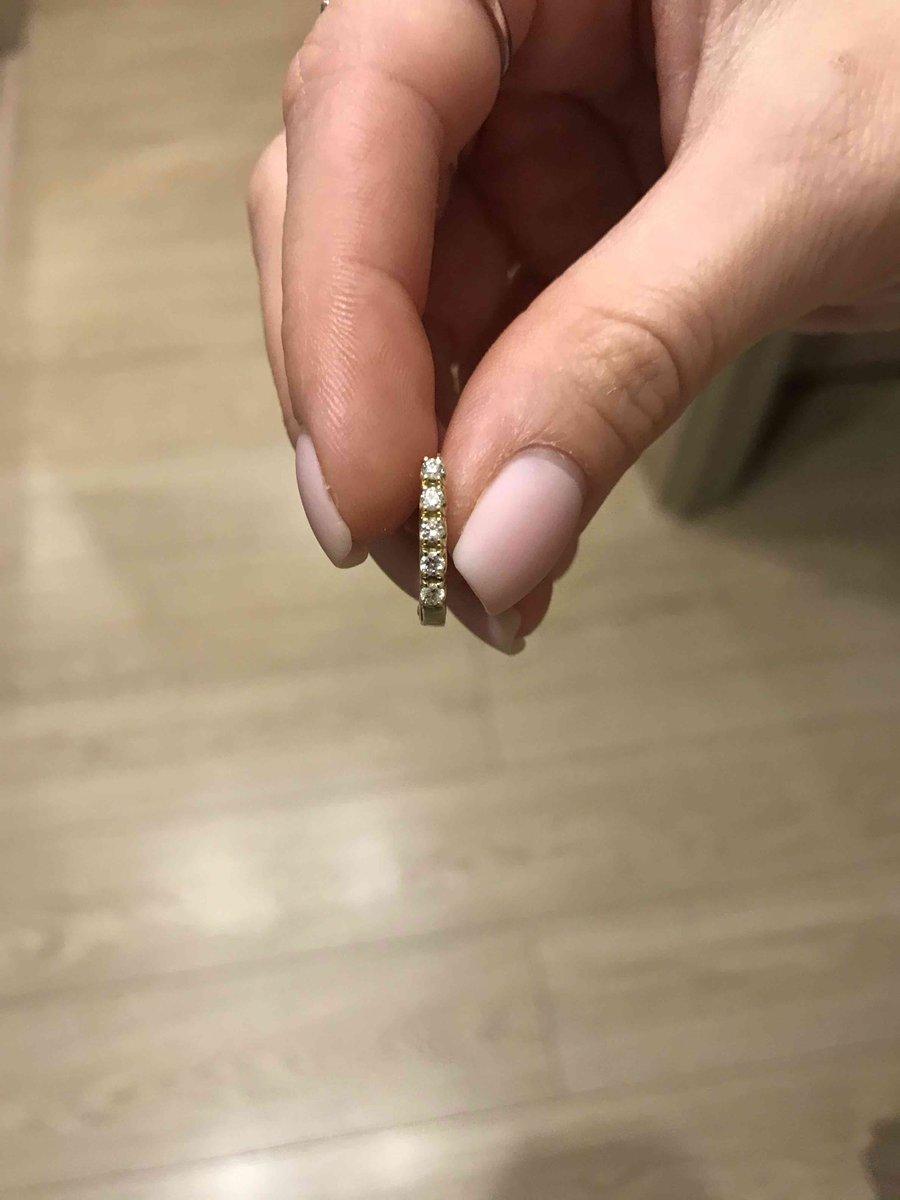 Золотые серьги с бриллиатами из желтого золота