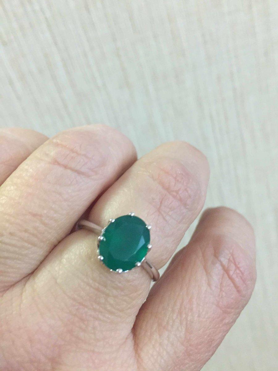 Серебрянное кольцо с агатом