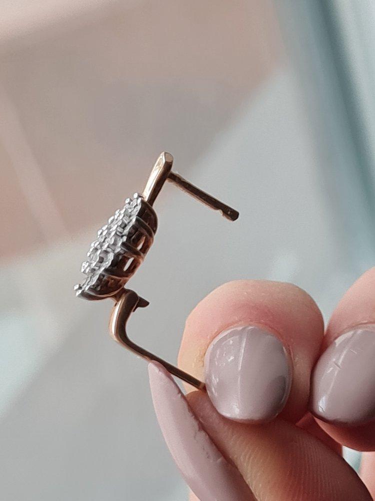 Серёжки ❄с маленькими бриллиантами