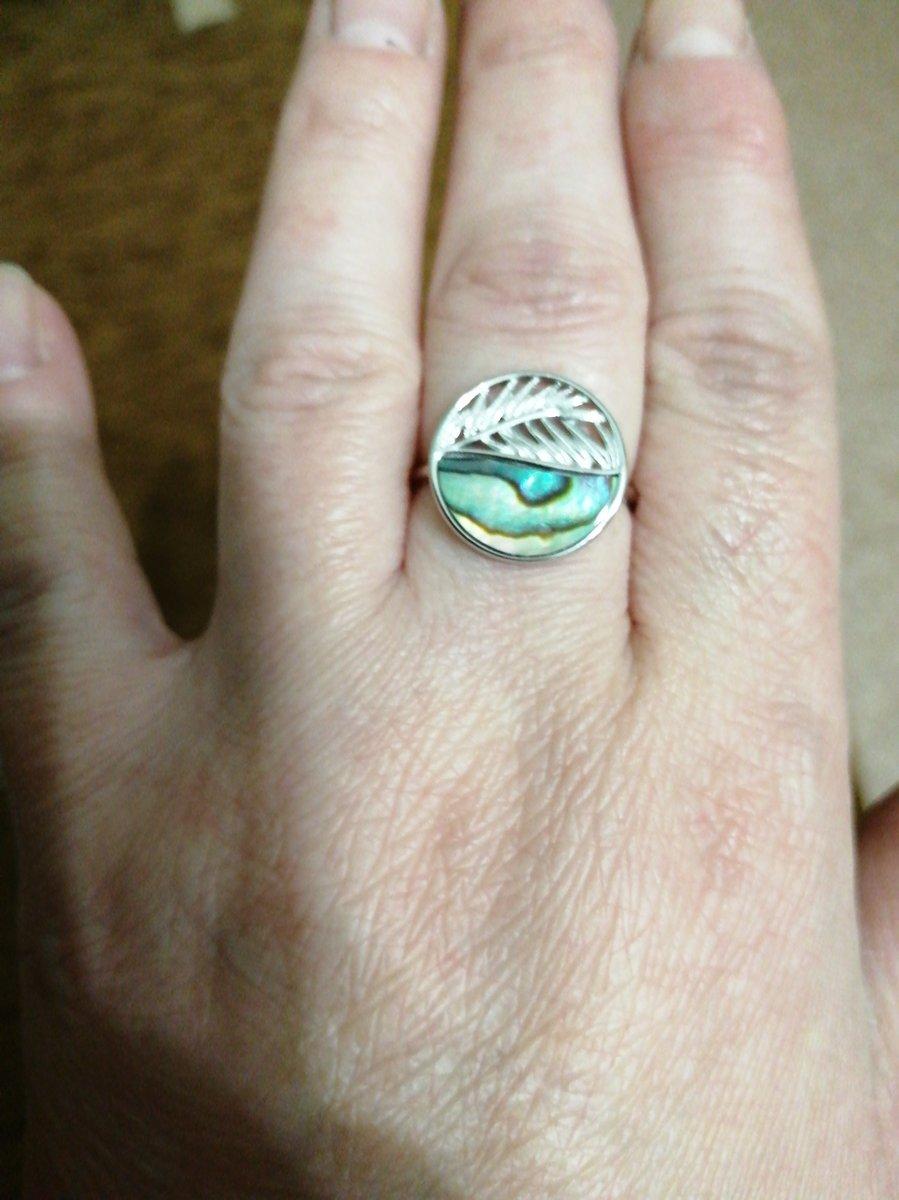 Кольцо с вставкой ракушка