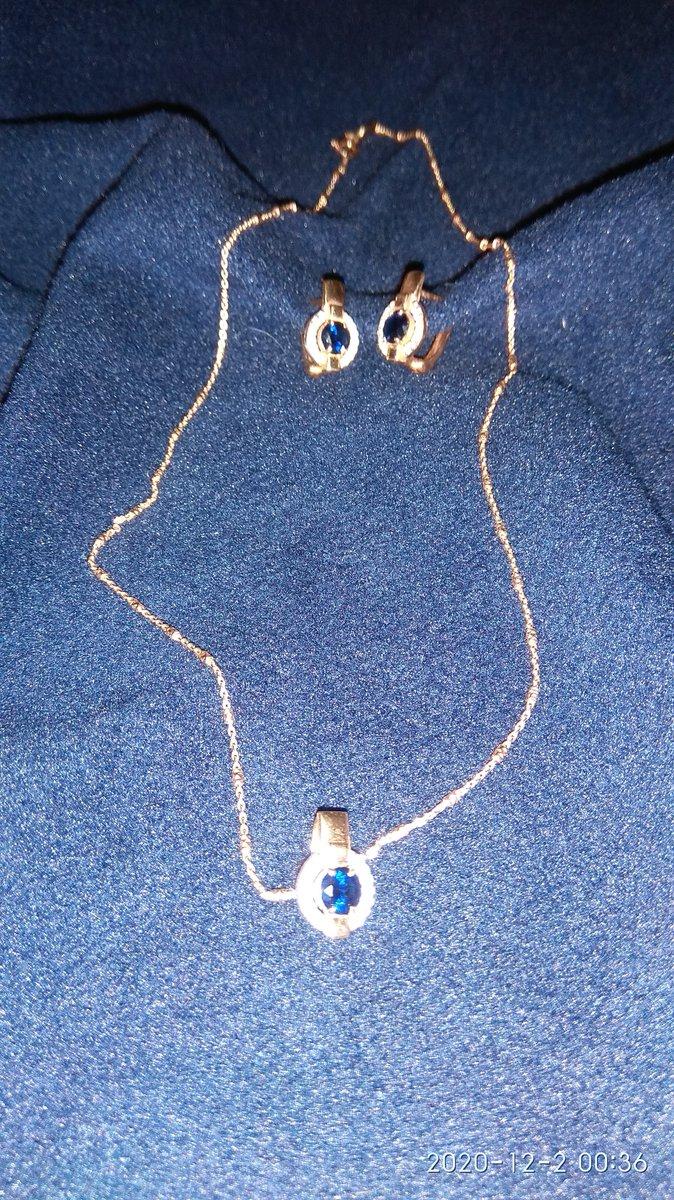 Серебряные серьги с сапфирами