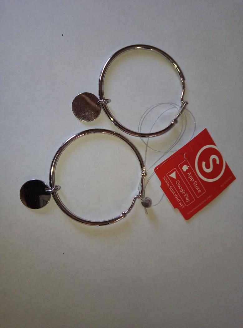 Сережки кольцами