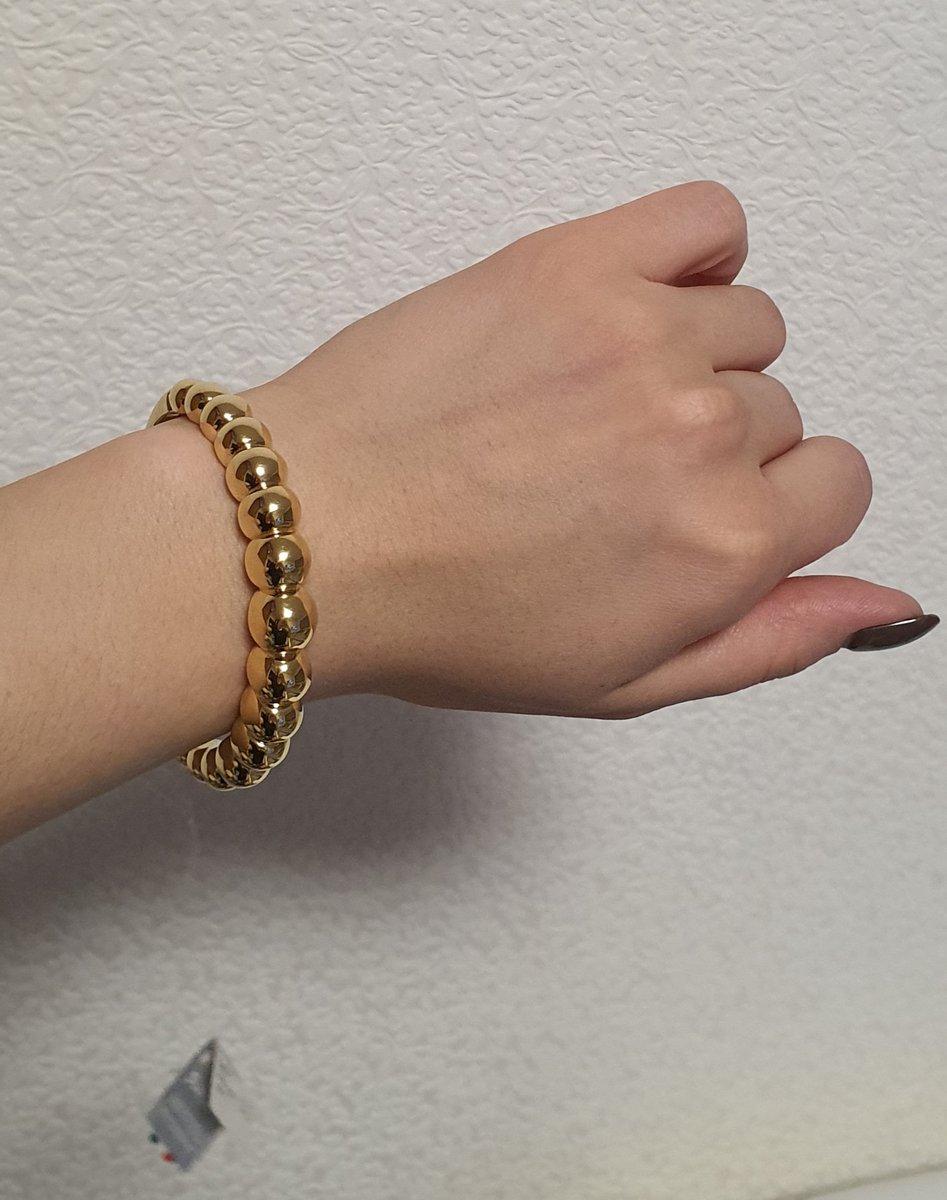 Объемный браслет из итальянского золота