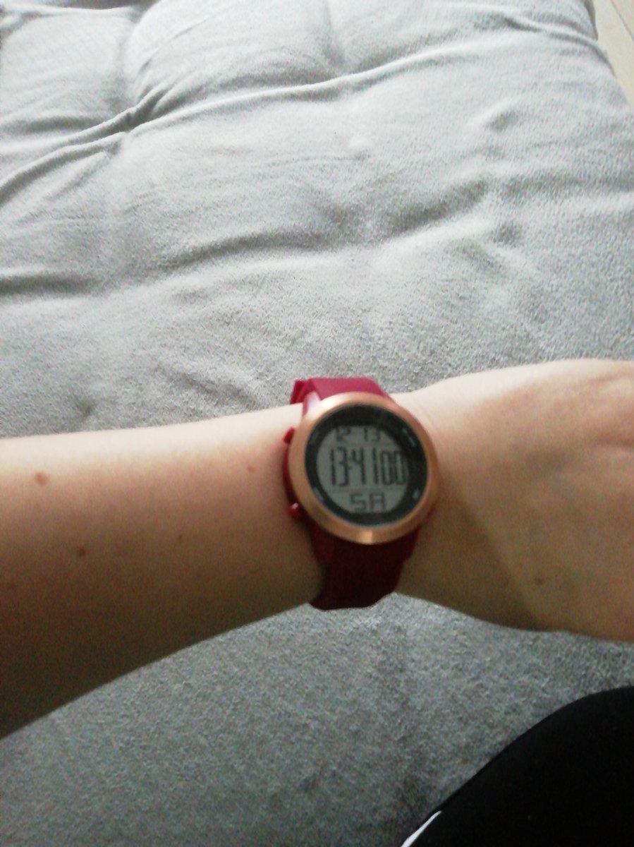 Часы tamer, цвет бордовый
