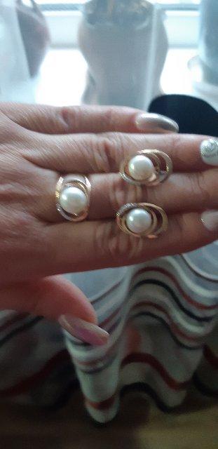 Кольцо супер оригинальное вместе с сережками