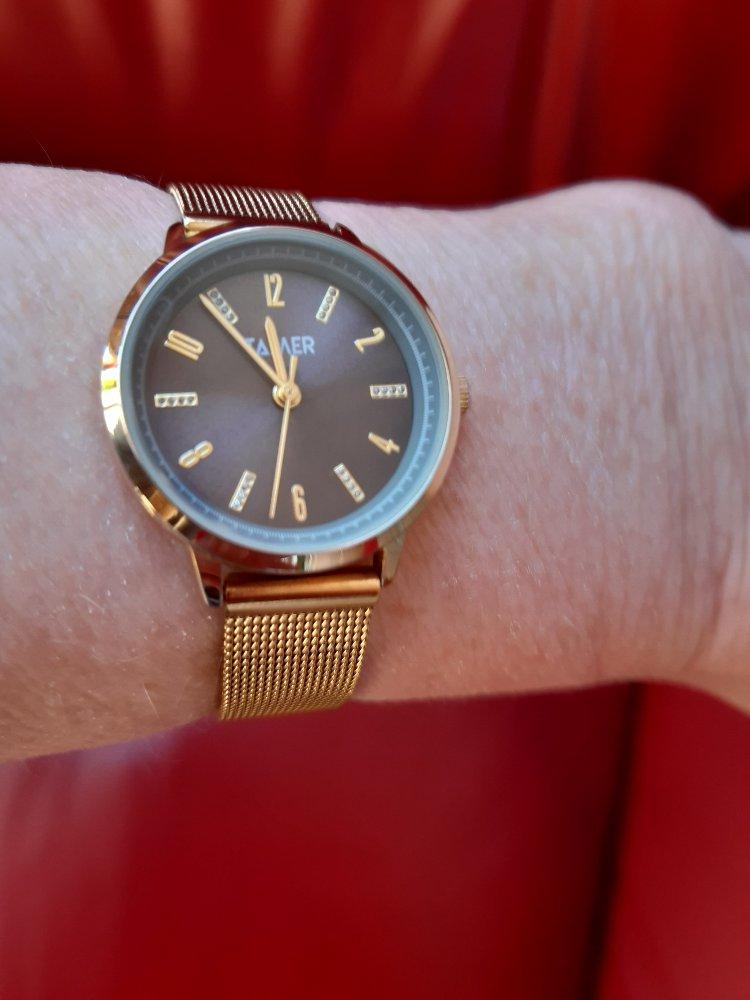 Женские серебряные часы в позолоте