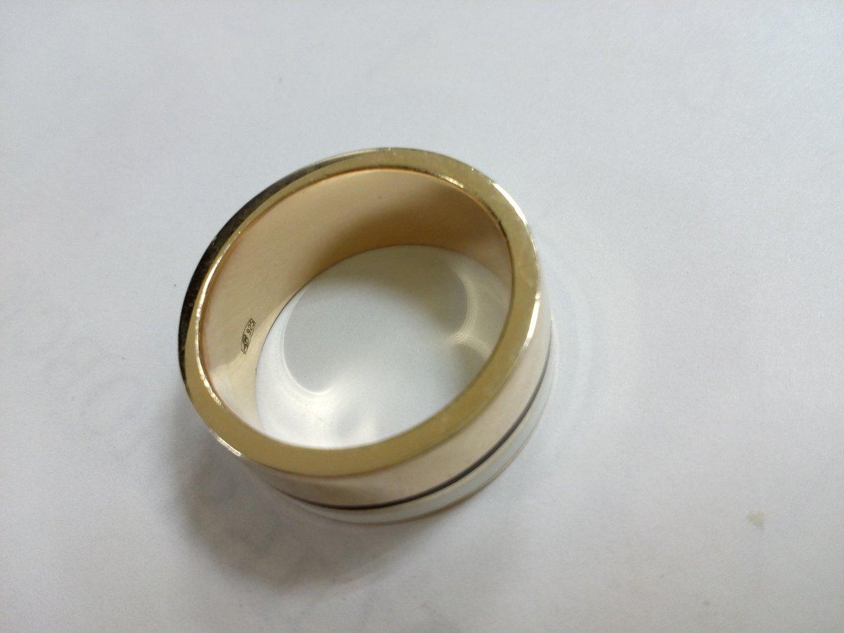 Кольцо серебро 925* с позолотой