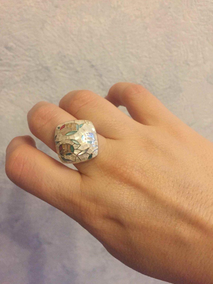 Перстень с эмалью