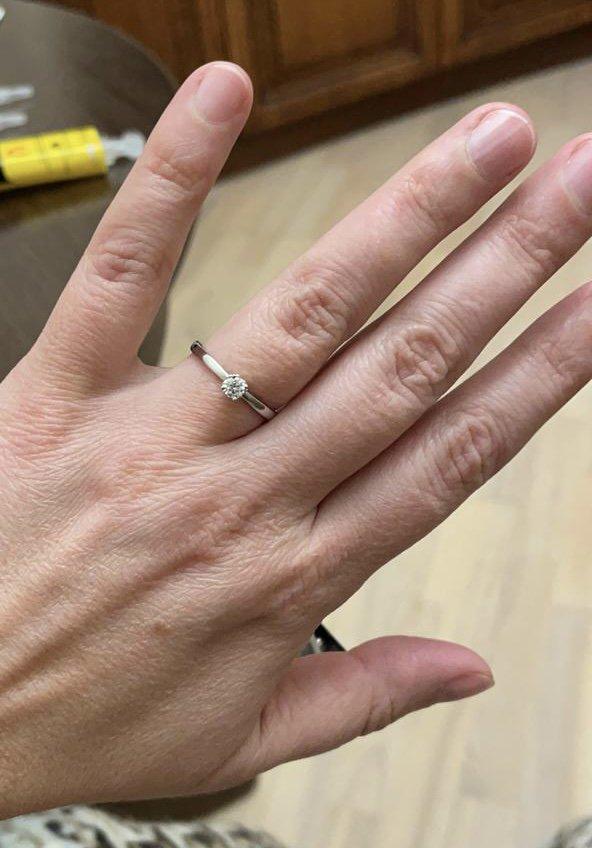Изящное кольцо для помолвки