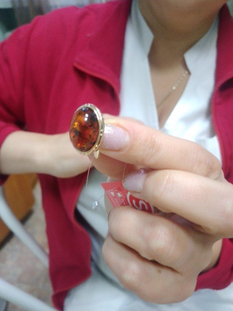 Серебреное серги с янтарем