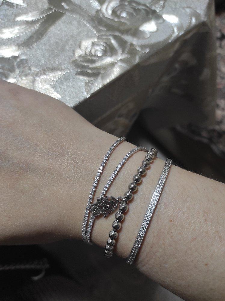 Отличный браслет! смотрится шикарно, подойдет на любой размер руки.