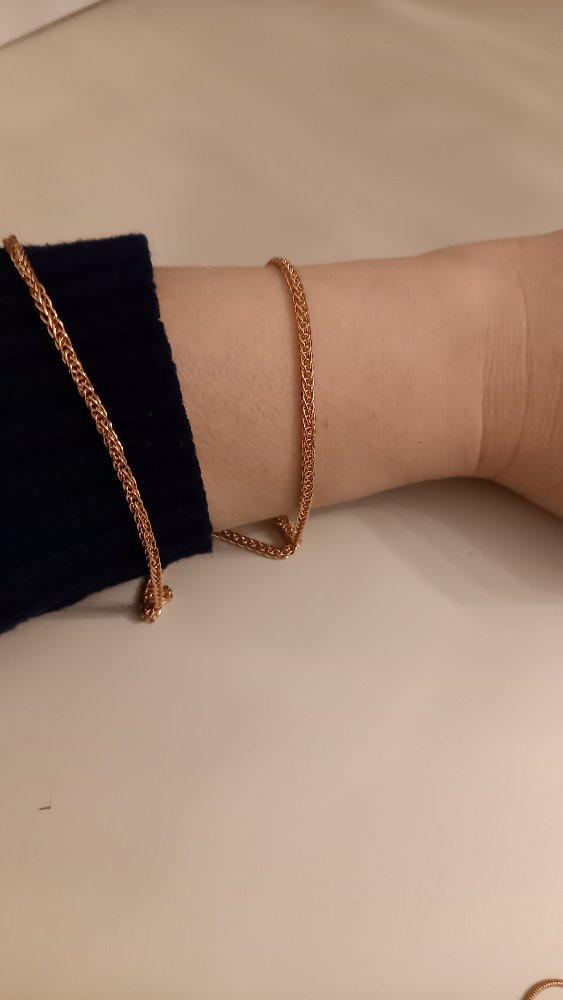 """Серебряная цепь, плетение """"линий хвост"""""""