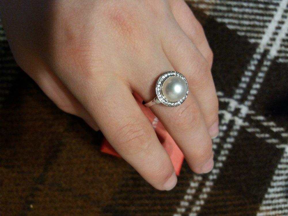 Серебрянное кольцо с жемчугом