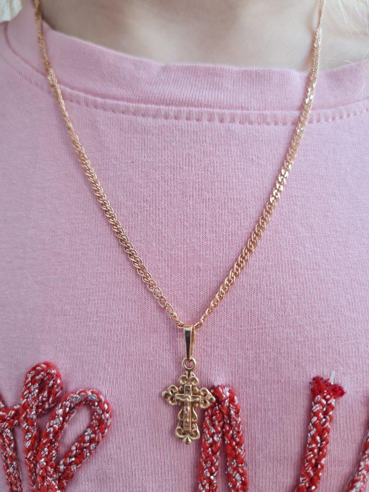 Золотая цепь для крестика