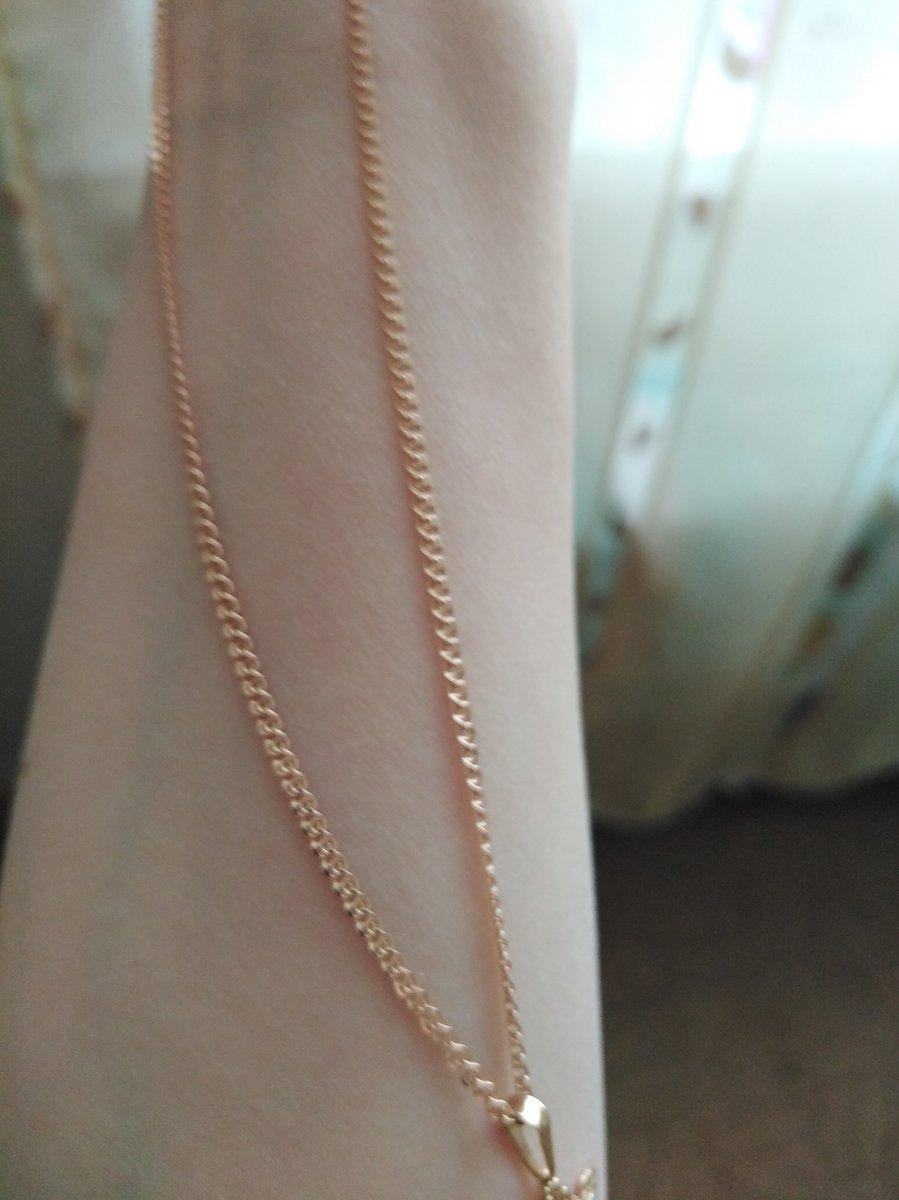 Цепочка золотая 55 см